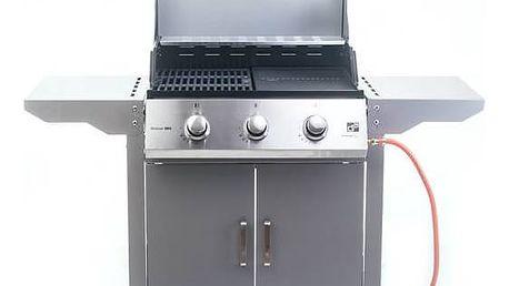 Gril zahradní plynový G21 Oklahoma, BBQ Premium Line 3 hořáky + připojovací sada zdarma + Houpací síť Spokey SHADOWSUN v hodnotě 399 Kč + Doprava zdarma