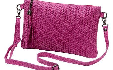 Růžová kabelka z pravé kůže Andrea Cardone Michele