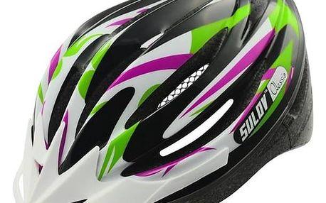 SULOV Cyklo přilba ALESSIA, fialovo-zelená