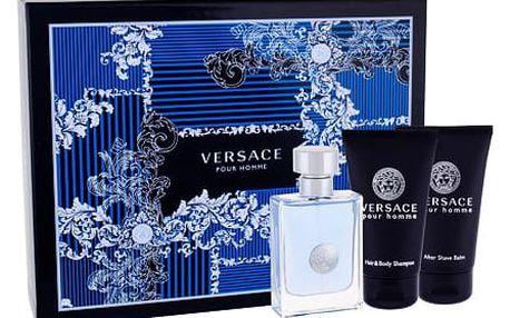 Versace Pour Homme EDT dárková sada M - EDT 50 ml + sprchový gel 50 ml + balzám po holení 50 ml