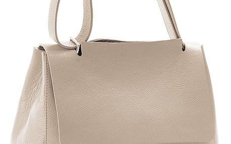 Béžová kabelka z pravé kůže Andrea Cardone Muskala