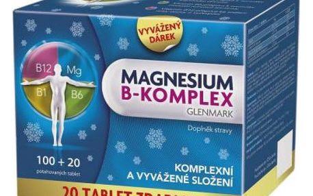 Magnesium B-komplex Glenmark 100 + 20 tablet