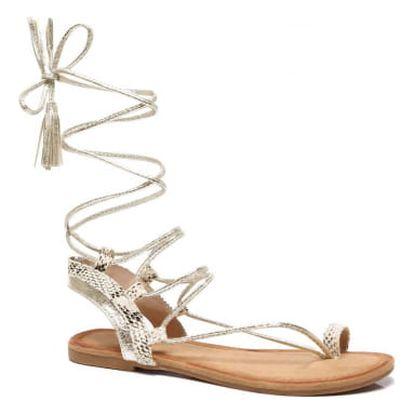Dámské zlaté sandály Kirsten 6010