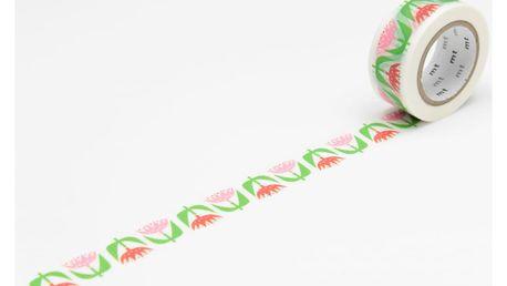 mt Designová samolepicí páska Tulip, červená barva, růžová barva, papír