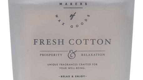 Makers of Wax Goods Vonná svíčka ve skle Fresh Cotton 464g, bílá barva, sklo, vosk