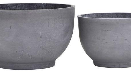 House Doctor Hliněný květináč Gard Planter Větší, šedá barva, keramika