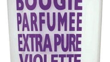 COMPAGNIE DE PROVENCE Vonná svíčka Sweet Violet 140 gr, fialová barva, sklo