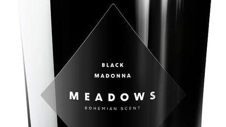 MEADOWS Luxusní vonná svíčka Black Madonna, černá barva, sklo