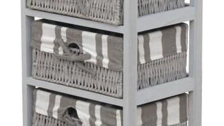 Tempo Kondela Komoda Aya šedá, 60 cm