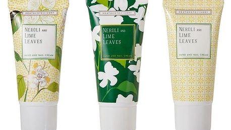 HEATHCOTE & IVORY Sada mini krémů na ruce Neroli & Lime Leaves - 3x30ml, zelená barva, žlutá barva