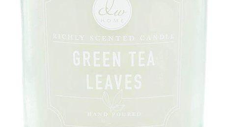 dw HOME Mini vonná svíčka Green Tea Leaves - 113gr, zelená barva, sklo