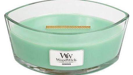 WoodWick Vonná svíčka WoodWick - Jarní déšť 454gr, zelená barva, sklo