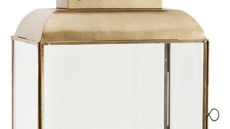 MADAM STOLTZ Lucerna Brass, měděná barva, sklo, kov