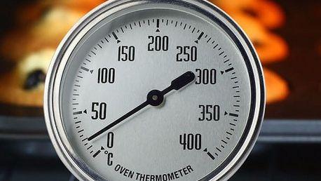 Kuchyňský nerezový teploměr do trouby - 0-400°C