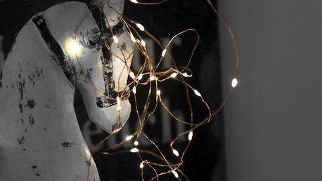 STAR TRADING Světelný LED drátek Copper Light, měděná barva