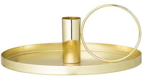 Bloomingville Kovový svícen Gold, zlatá barva, kov