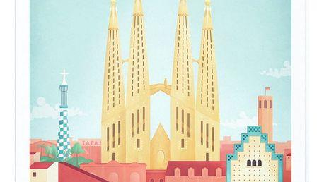 Plakát Travelposter Barcelona, A3