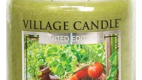 VILLAGE CANDLE Svíčka ve skle Tomato Vine - velká, zelená barva, sklo, vosk