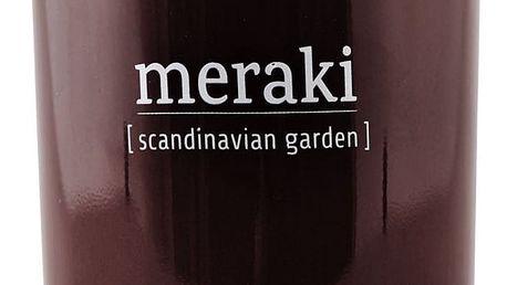 meraki Vonná svíčka Scandinavian Garden - 10,5 cm, hnědá barva, sklo