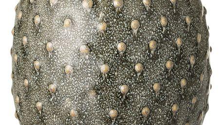 Bloomingville Keramická váza Green 14cm, zelená barva, keramika