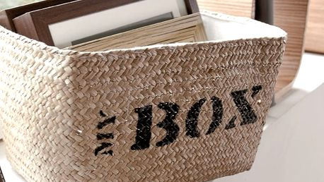 Úložný koš z mořské trávy Compactor My Box, šířka34cm