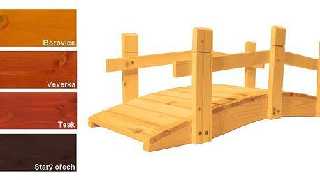 Gaboni 55242 Zahradní dřevěný můstek - s povrchovou úpravou - 71 cm