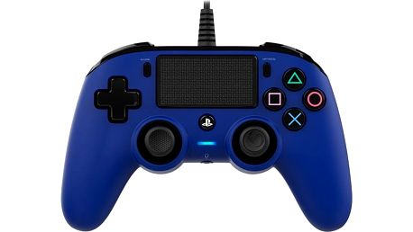 Gamepad Nacon Wired Compact Controller pro PS4 modrý (ps4hwnaconwccblue)