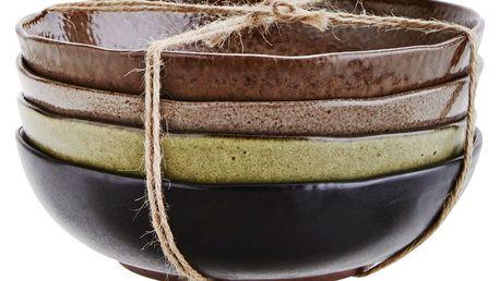MADAM STOLTZ Kameninová miska Stone Béžová, zelená barva, béžová barva, černá barva, hnědá barva, keramika