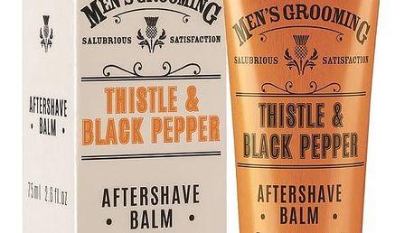 SCOTTISH FINE SOAPS Balzám po holení Thistle & Black pepper 75 ml, oranžová barva, plast, papír