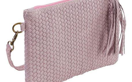Světle růžová kabelka z pravé kůže Andrea Cardone Michele