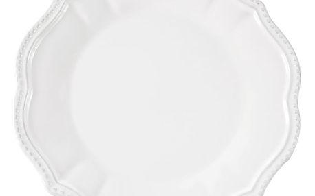 Sada 6 bílých dezertních talířků Côté Table Vallauris, ⌀22 cm