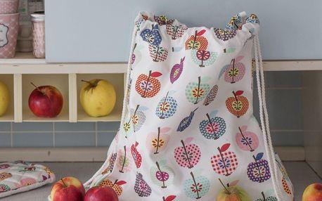 Krasilnikoff Látkový batůžek Apple, multi barva, textil