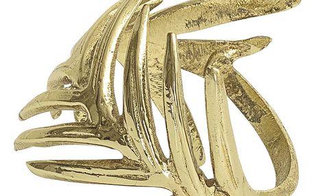 Bloomingville Kroužky na ubrousky Gold - set 4ks, zlatá barva, kov