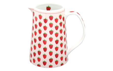 Krasilnikoff Džbán Strawberry, růžová barva, porcelán