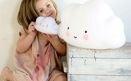 A Little Lovely Company Dětská lampa Big Cloud 45 cm, bílá barva, plast