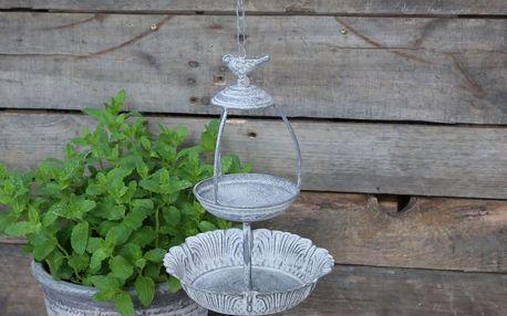 Chic Antique Zahradní krmítko pro ptáčky Antique Zinc, šedá barva, zinek