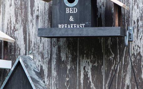 IB LAURSEN Ptačí budka Bed & Breakfast Black, černá barva, dřevo