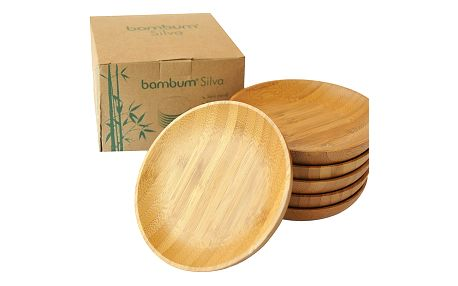 Sada 6 bambusových podtácků Bambum Silva