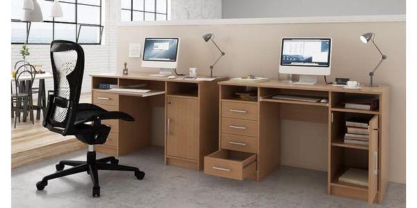 PC stolek, buk, B9 NEW