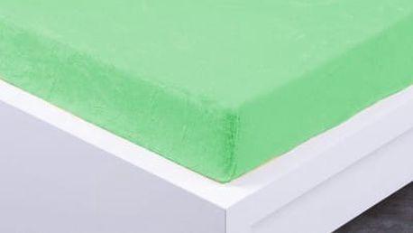 XPOSE ® Prostěradlo mikroflanel Exclusive dvoulůžko - světle zelená 180x200 cm