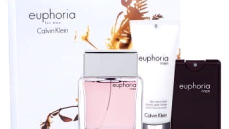 Calvin Klein Euphoria Men 100 ml dárková kazeta dárková sada pro muže toaletní voda 100 ml + balzám po holení 100 ml + toaletní voda 20 ml