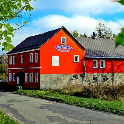 Osobitá CHKO Slavkovský les v penzionu s polopenzí a se slevou do unikátního parku Boheminium – i na celý týden