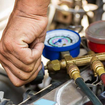 Kontrola a plnění klimatizace vozu, možnost dezinfekce