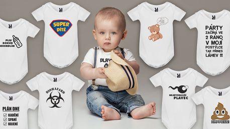 Kojenecká body trička s vtipnými nápisy