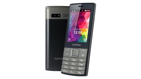 Mobilní telefon myPhone 7300 Dual SIM (TELMY7300GR) černý/stříbrný