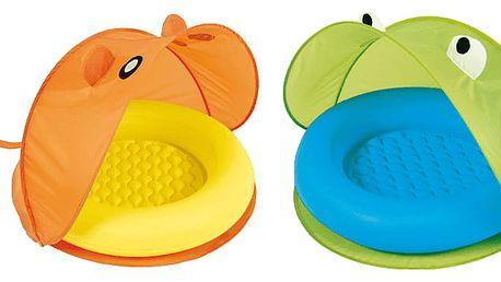 BESTWAY Nafukovací bazének se stříškou – mix 2 barvy, 97 x 97 x 74 cm