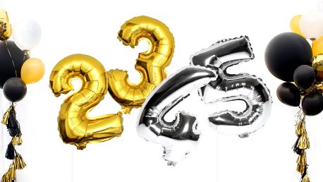 Nafukovací balónky ve tvaru čísel: Dvě velikosti
