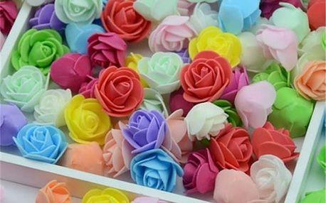 Sada pěnových růžiček - 100 kusů - 23 barev