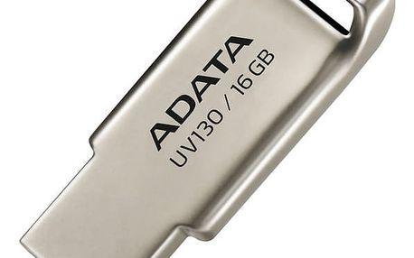 USB Flash ADATA UV130 16GB kovový (AUV130-16G-RGD)