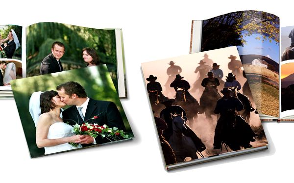 Velká fotokniha A4 na výšku na křídovém papíře v tvrdé vazbě